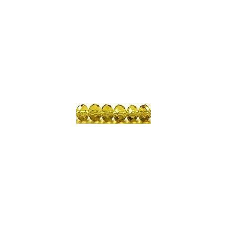 Facetkr disc 4,5x6 goudgeel str. 41cm ca 100 kr.