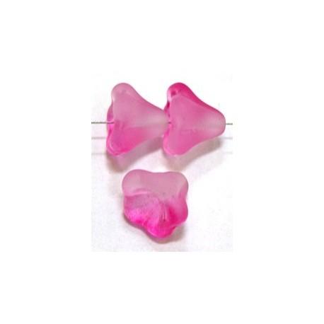 Glaskelk 13x11mm rose evalina 5st