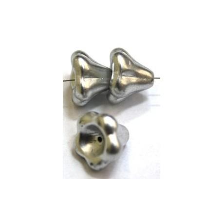 Glaskelk 13x11mm zilver wax gecoat 5st