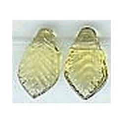 Glaskraal blad 13mm transp.geel 25st