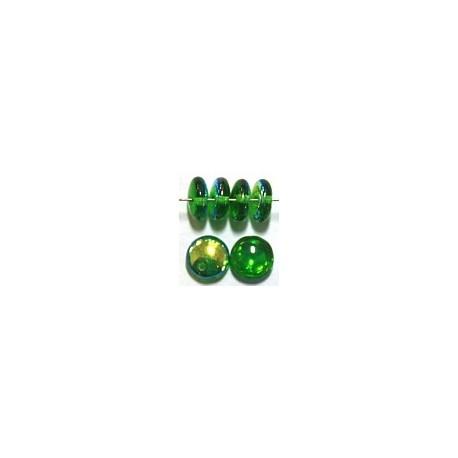 Lentils 6mm hangend smaragdgr. AB 50st.