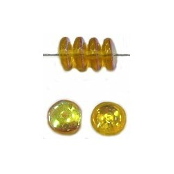 Glaskraal 6mm pastille topaas capri gold 50st.