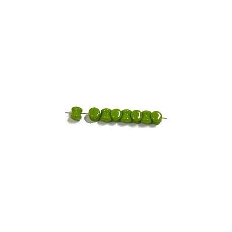 Diabolokraal 5mm opaque olijfgroen 50st.
