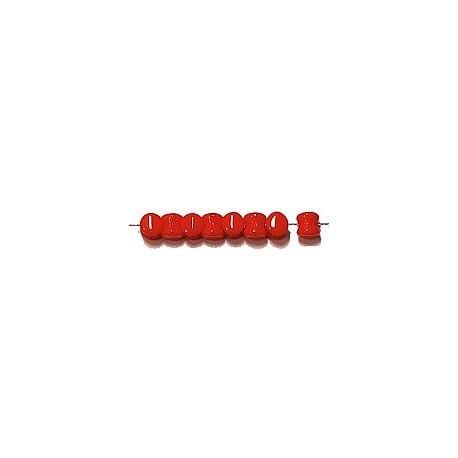 Diabolokraal 5mm opaque rood 50st.