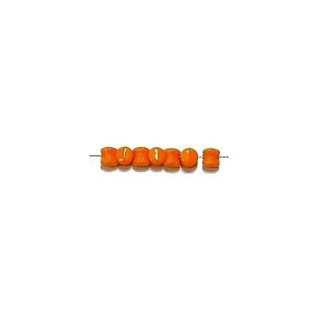 Diabolokraal 5mm opaque oranje 50st.
