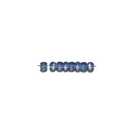 Diabolokraal 5mm transp. blauw 50st.