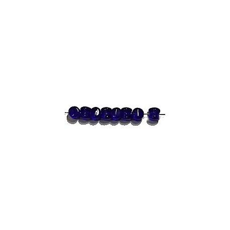 Diabolokraal 5mm transp. d.blauw 50st.