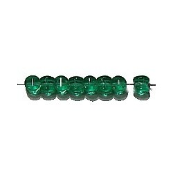 Diabolokraal 5mm transp. smaragdgroen 50st.