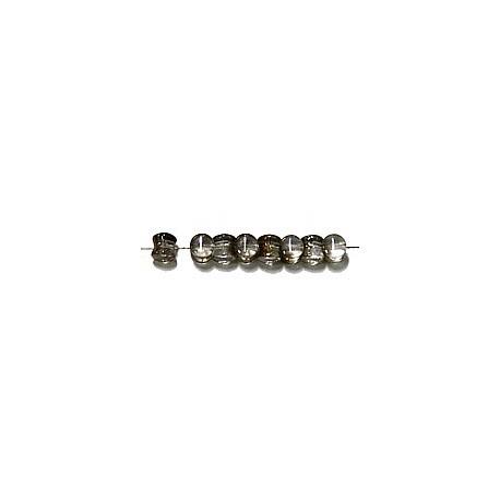Diabolokraal 5mm kristal-goudbruin 50st.
