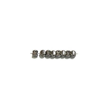 Diabolokraal 5mm kristal full zilver 50st.
