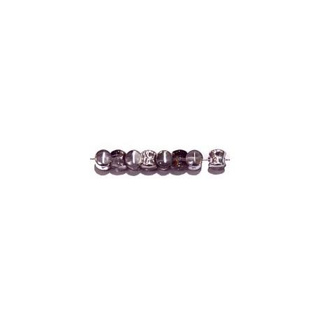 Diabolokraal 5mm kristal AB-zilver 50st.