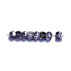 Diabolokraal 5mm kristal blauwAB-zilver 50st.