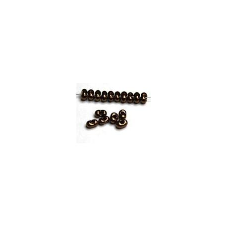 Farfalle 2x4mm zwart bronze gelusterd 25gr