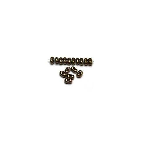 Farfalle 2x4mm zwart dorado goud gelusterd 12,5gr