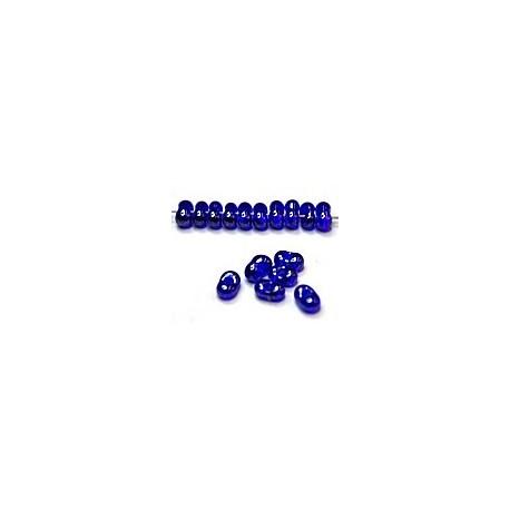 Farfalle 2x4mm kobaltblauw hematief gelust. 25gr