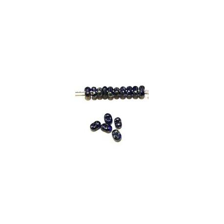 Farfalle 2x4mm kobaltblauw silver travertin 25gr