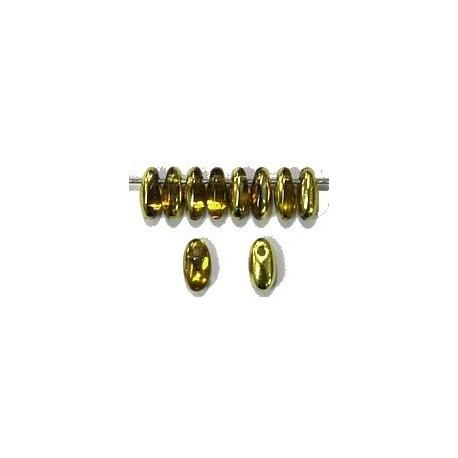 Rizo bead 3x6mm sun/geel goud 100st.