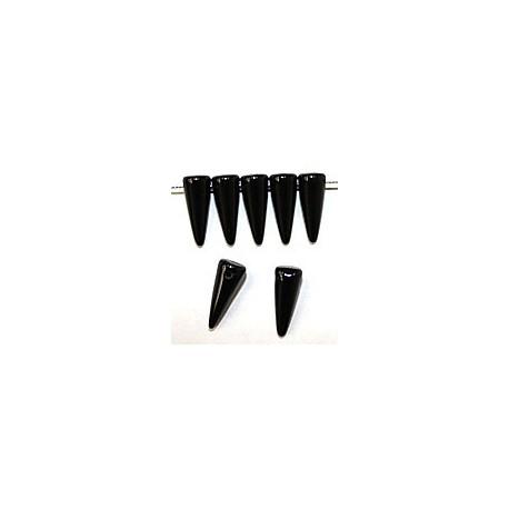 Glaskraal spike 5x13mm zwart 20st