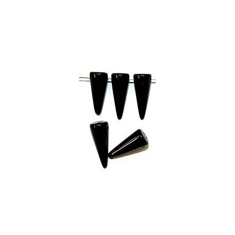 Glaskraal spike 7x17mm zwart 10st