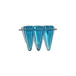 Glaskraal spike 7x17mm tr. aquamarijn 10st