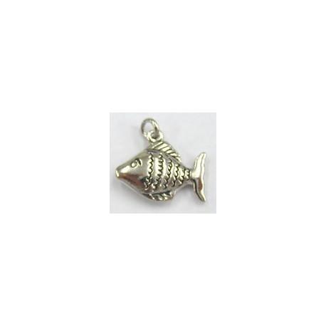 Bedel zilverkl. vis per stuk
