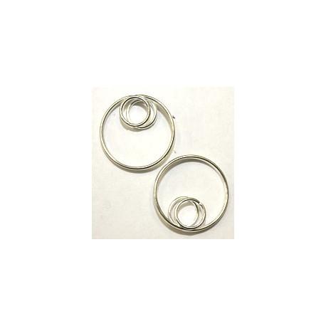 Dubbelle ring met dubbelle ring 18 en 8mm 2st.
