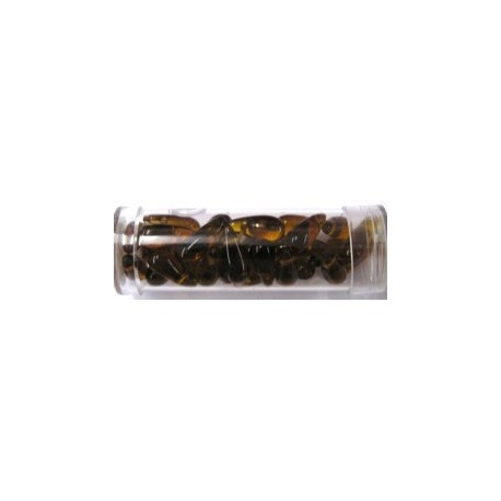 Gutermann druppels 5mm bruin 32st
