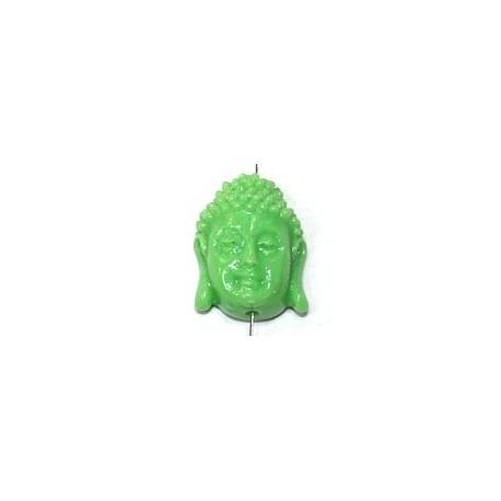 Boeddha 18mm imitatie koraal groen p.st.