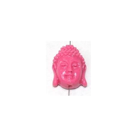 Boeddha 18mm imitatie koraal roze p.st.