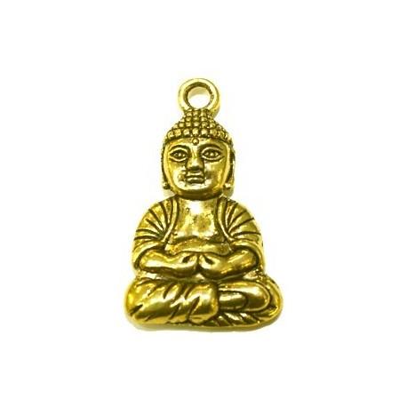 Boeddha metaal ca 40mm goudkl.