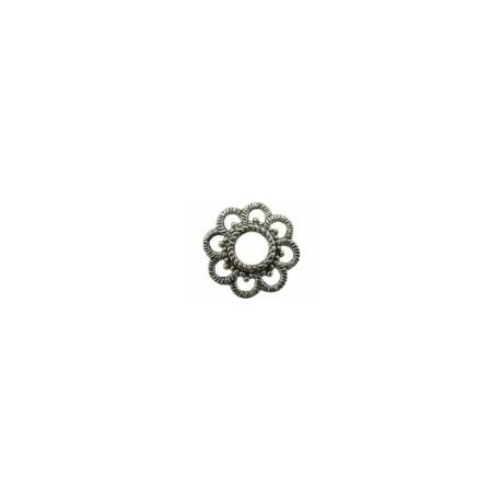 Metalen ring bloem 24mm 3st.