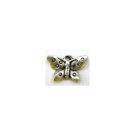 bedel 13x21mm zilverkl. vlinder p.st