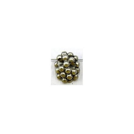 Kraal 10x22mm druiventros ooudz. 4mm simili. p.st