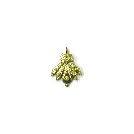 Hanger handvorm 26mm oud goudkl. 2st