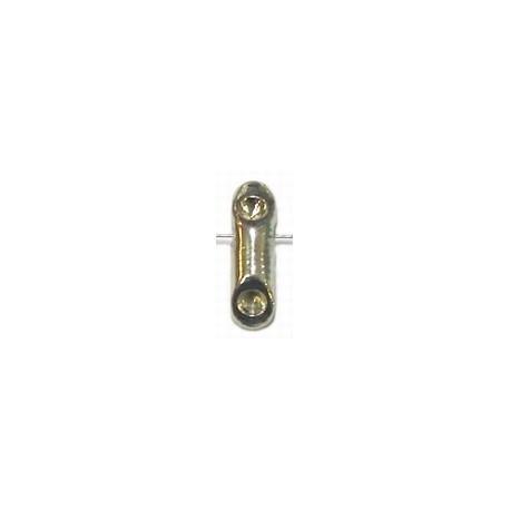 Metalen kraal 15mm zilverkl voor 3mm simili 2st