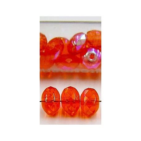 facetwieltje 6mm oranje AB ca.20stuks