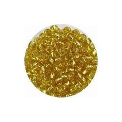 Rocailles 5/0 transparant goudkern 25 gram