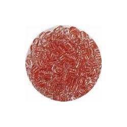 Rocailles 5/0 transp rood gestreept 25gr.