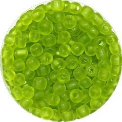 Rocailles 5/0 transp. mat groen 25 gram