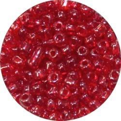 Rocailles 5/0 tr. rood gelusterd 25 gram