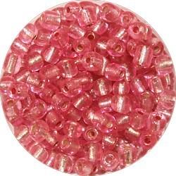 Rocailles 5/0 tr. rose zilverkern 25 gram