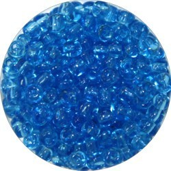 Rocailles 5/0 transp. blauw 25 gram