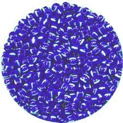 Rocailles 7/0 blauw-wit gestreept 25 gram