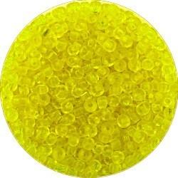 Rocailles 8/0 transp. d.geel 25gram