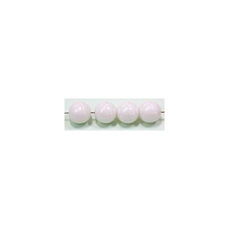 Glaskralen 6mm wit parelmoer ca.38 stuks