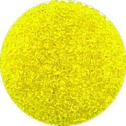 Rocailles 10/0 transparant d.geel 25gram