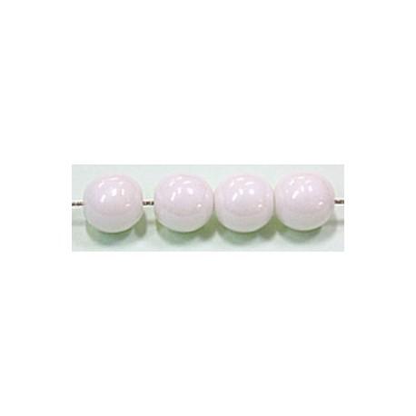 Glaskralen 10mm wit parelmoer 6 stuks