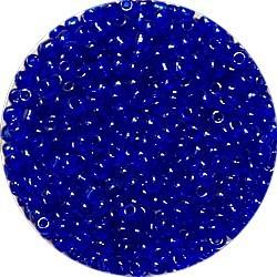 Rocailles 10/0 transp. koningsblauw25 gram