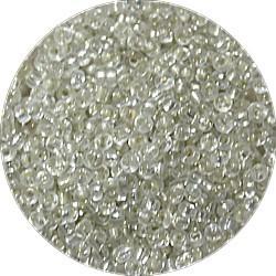 Rocailles 10/0 transp. zilverkern 25 gram