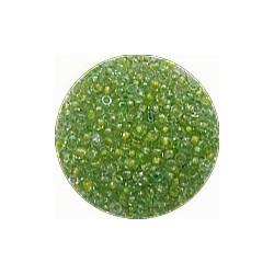 Rocailles 10/0 groen gele kern ca 50gram
